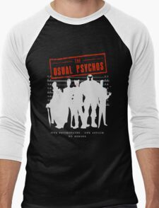 The Usual Psychos Men's Baseball ¾ T-Shirt
