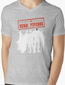 The Usual Psychos Mens V-Neck T-Shirt
