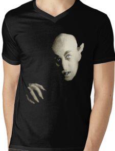 Black Nosferatu Mens V-Neck T-Shirt