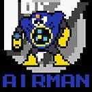 Airman with text (Blue) by Funkymunkey