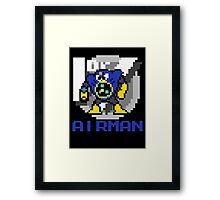 Airman with text (Blue) Framed Print