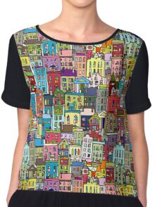 Abstract cityscape background Chiffon Top