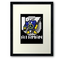 Airman with text (White) Framed Print