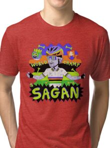 SAGAN , Tourminator t shirt Tri-blend T-Shirt