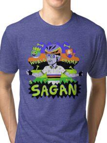 SAGAN , Tourminator t shirt Tri-blend T-Shirt