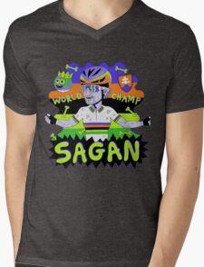SAGAN , Tourminator t shirt Mens V-Neck T-Shirt