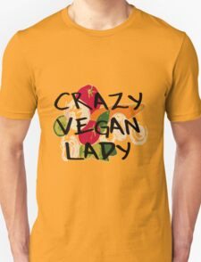 CRAZY VEGAN LADY Unisex T-Shirt