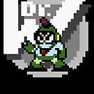 Bubbleman with text (Black) by Funkymunkey