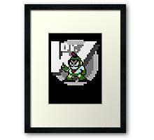 Bubbleman with text (Black) Framed Print