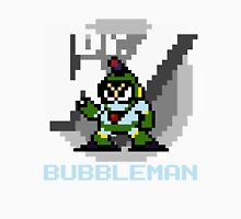 Bubbleman with text (Blue) Unisex T-Shirt
