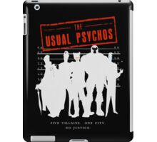 The Usual Psychos (Variant) iPad Case/Skin