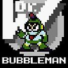 Bubbleman with text (White) by Funkymunkey