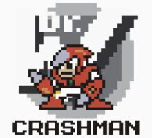 Crashman with text (Black) One Piece - Short Sleeve