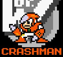 Crashman with text (Orange) by Funkymunkey