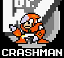 Crashman with text (White) by Funkymunkey