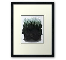 Laura Palmer in the Woods Framed Print