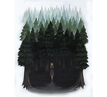 Laura Palmer in the Woods Photographic Print