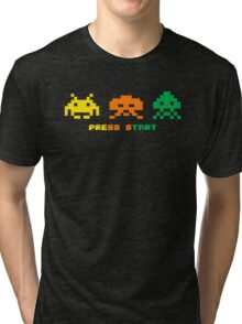 space invaders full colour Tri-blend T-Shirt