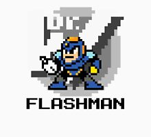 Flashman with text (Black) Unisex T-Shirt