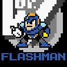 Flashman with text (Blue) by Funkymunkey