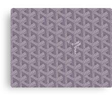 Goyard Perfect Case grey Canvas Print