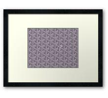 Goyard Perfect Case grey Framed Print