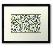 Floral seamless pattern Framed Print