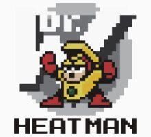 Heatman with text (Black) One Piece - Short Sleeve