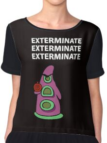 Exterminate/ day of tentacle Chiffon Top