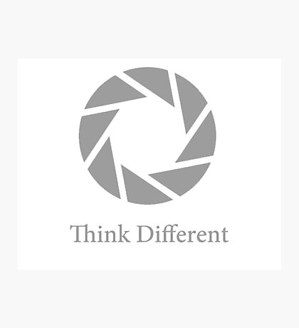 Aperture Science, Think Different Photographic Print