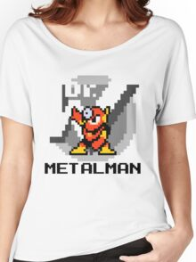Metalman with text (Black) Women's Relaxed Fit T-Shirt