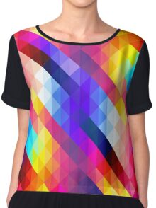 Colorful Triangle Pattern Chiffon Top