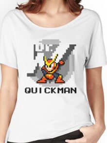 Quickman with text (Black) Women's Relaxed Fit T-Shirt