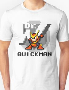 Quickman with text (Black) T-Shirt