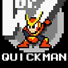 Quickman with text (White) by Funkymunkey