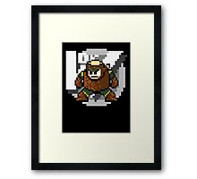 Woodman with text (Black) Framed Print