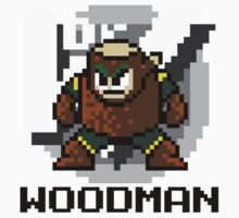 Woodman with text (Black) One Piece - Long Sleeve