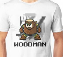 Woodman with text (Black) Unisex T-Shirt