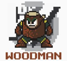 Woodman with text (Brown) T-Shirt