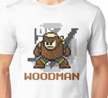 Woodman with text (Brown) Unisex T-Shirt
