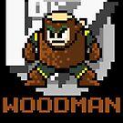 Woodman with text (Brown) by Funkymunkey