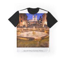 Spanish Steps - Piazza Espania Graphic T-Shirt
