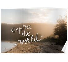 Explore The World message Poster