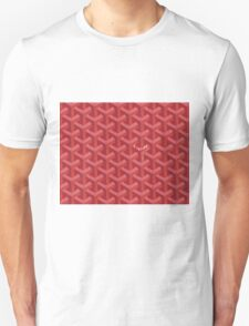 Goyard Perfect Case red Unisex T-Shirt