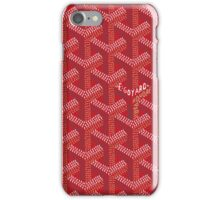 Goyard Perfect Case red iPhone Case/Skin
