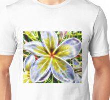 Single Frangipani Fractal  Unisex T-Shirt