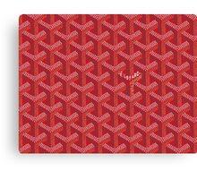 Goyard Perfect Case red Canvas Print