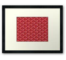 Goyard Perfect Case red Framed Print