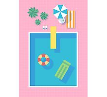 Retro 80s Swimming Pool Photographic Print