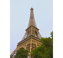 Eiffel Tower in summer Photographic Print